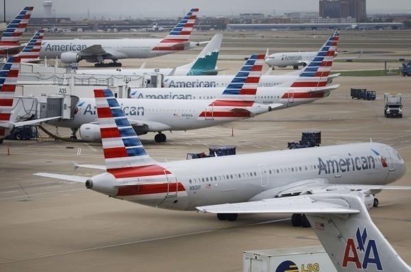 圖為美國航空客機。(彭博)