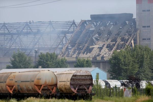 法國時間今天上午,東部史特拉斯堡市一間農產公司的倉庫傳出爆炸,(路透)