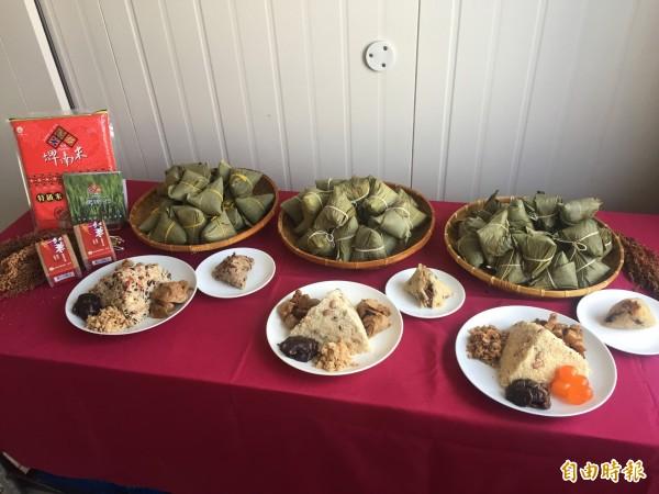 東區農各式粽子有媽媽的味道。(記者張存薇攝)