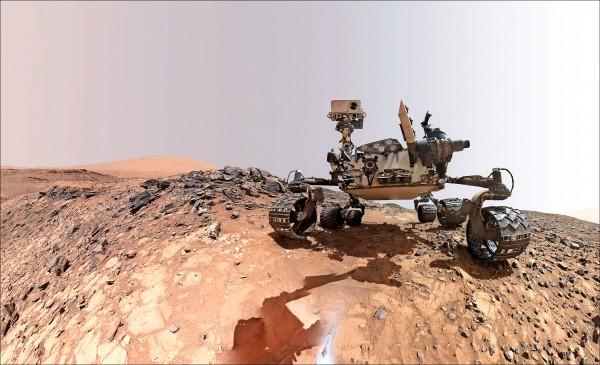好奇號火星探測車檢測到複雜多元的有機化合物,以及火星大氣的甲烷季節性波動週期。(法新社)
