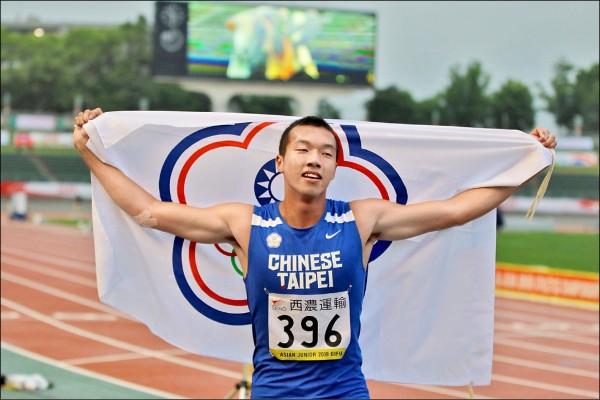 男子十項混合運動,上屆屈居銀牌的台灣小將王晨佑一路保持領先,最後以個人最佳的7200分奪金,打破自己保持的全國青年紀錄。(田徑協會提供)