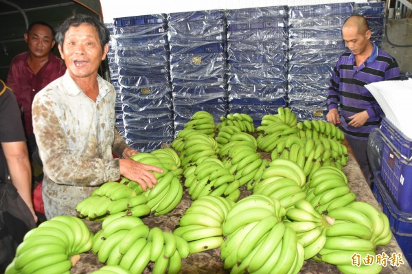 蕉農感謝軍方解燃眉之急。(記者蘇福男攝)