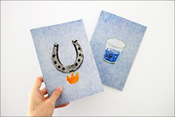 徐世賢獲獎作品「Nordic Happiness 北歐幸福」,是他去年趁學校聖誕假期到北歐(瑞典、芬蘭及丹麥)旅行後,所創作的小書。(徐世賢提供)