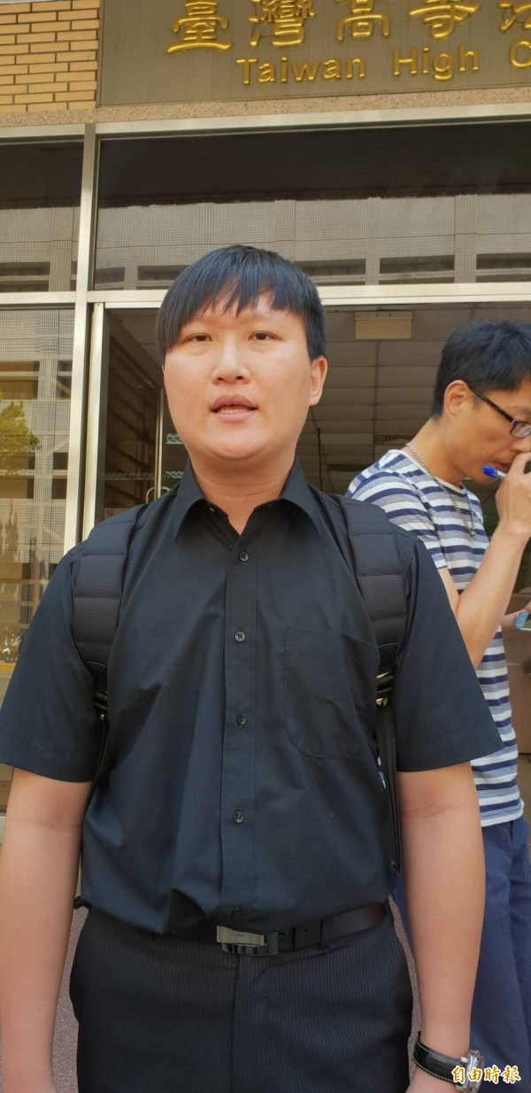 沈女前男友今在高院判決後批評,一、二審均輕判像吳典鴻般蓄意殺人犯,無異使台灣成為殺人犯的天堂。(記者楊國文攝)