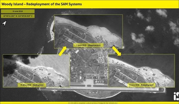 中國移回此前撤離南海的飛彈系統。(取自網路)