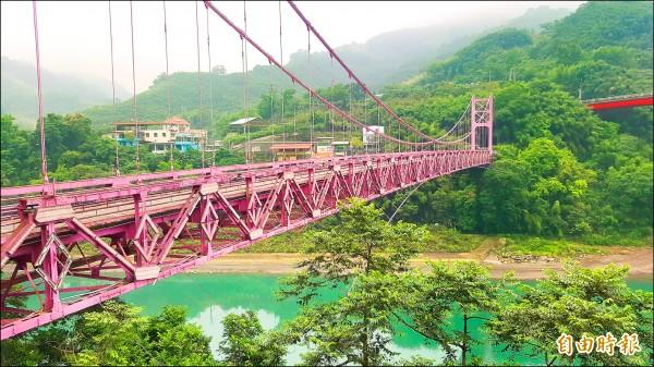 復興區復興橋。(記者李容萍攝)