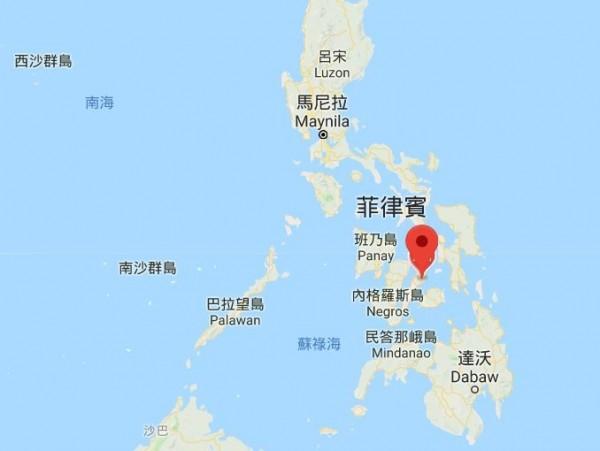 菲律賓宿霧市驚傳1名台籍導遊,因涉嫌毒品交易遭當地警方逮捕。(圖擷自Google地圖)
