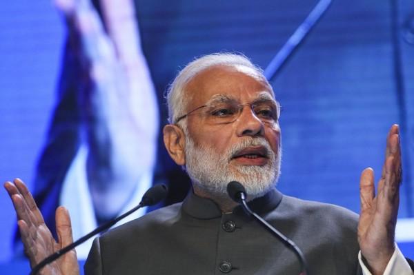 近期印度總理莫迪官邸附近出現UFO盤旋,警方說經調查無任何安全威脅,卻不願透露任何細節,意外引起熱議。圖為莫迪出席第17 屆香格里拉對話。(法新社)