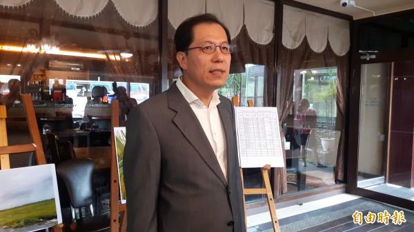 嘉義縣副縣長吳芳銘今天宣布投入嘉義縣長選舉。(記者林宜樟攝)