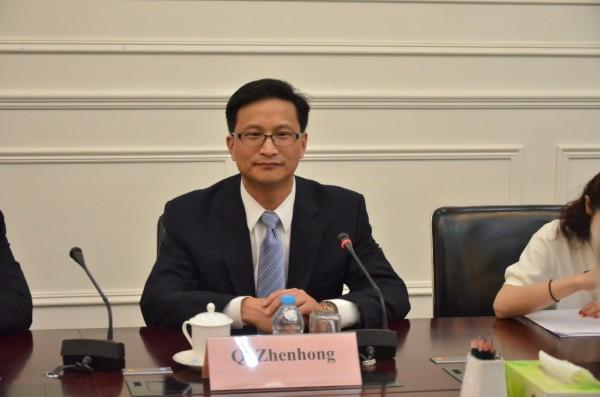 媒體指出,戚振宏今年6月初與院內少數研究員秘密訪台。(圖取自中國國際問題研究院官網)