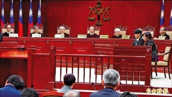 司法院將於7月10日召開黨產條例釋憲案說明會,首度開放民眾旁聽。圖為憲法法庭。(資料照)