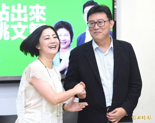 民進黨台北市長參選人姚文智(右)。圖為姚文智發布623大型造勢活動CF。(資料照)