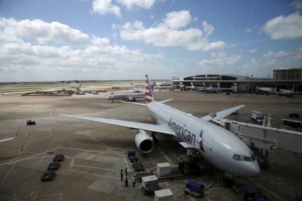 中國要求多家航空公司配合更改台灣名稱,對於還未改名的航空公司,中國官媒一一點名並指責。圖為美國航空。(美聯社)
