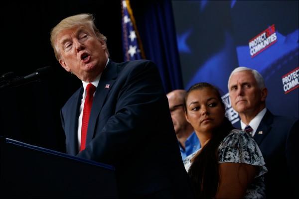 美國總統川普在致國會的一份總統聲明裡,視北韓為「非比尋常的威脅」。(美聯社)
