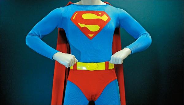 英國萊斯特大學學生研究發現,超人是最強的超級英雄,主因是他的高密度肌肉組織強度,以及超級火焰攻擊。(法新社檔案照)