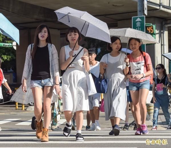 中央氣象局指出,今天(29日)南部、東南部有不定時短暫降雨,午後各地有局部短暫雷陣雨。(資料照)