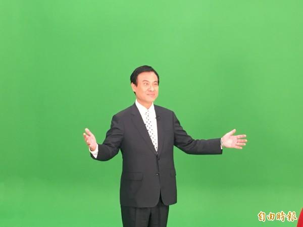 立法院長蘇嘉全拍攝國會頻道網站宣傳片。(記者鄭鴻達攝)