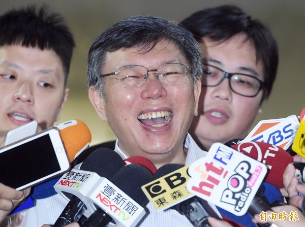 台北市長柯文哲去年赴上海出席雙城論壇說出「兩岸一家親」、「命運共同體」,引發輿論批評;柯日前在媒體詢問下,終於坦承送到國安會的講稿內並沒有「兩岸一家親」、「命運共同體」,是後來加上去的。(資料照)