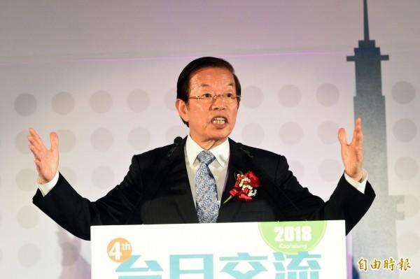 駐日代表謝長廷認為台灣與日本已建立「災害互相幫忙」模式,這是一種「善的循環」。(記者張忠義攝)