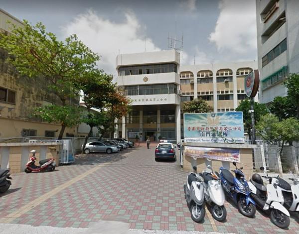 找到皮夾的外國學生詹姆斯,對台灣警察留下好印象。圖為台南市警二分局南門派出所。(圖擷取自Google Map)