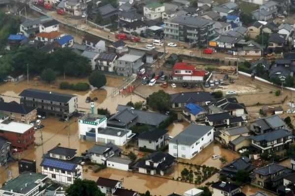 日本暴雨造成嚴重災情,已造成62死6命危,還有44人失聯。(歐新社)
