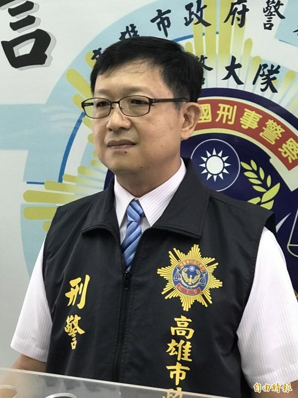刑大專員黃國書升任刑大偵查隊長,並兼任鳳山分局偵查隊長。(記者黃良傑攝)