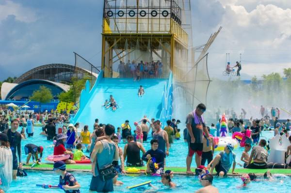 童玩節開幕2天就遇上颱風休園。(圖由宜蘭縣政府提供)
