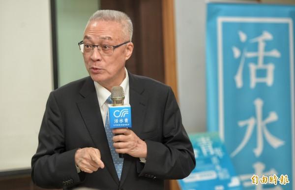 國民黨主席吳敦義。(資料照,記者張嘉明攝)