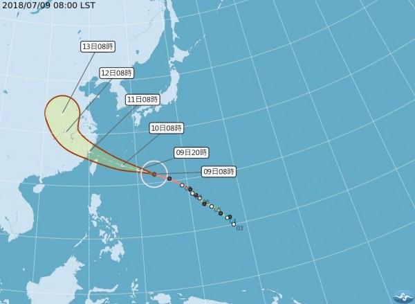 強颱瑪莉亞日漸逼近,颱風假也成為民眾關注的議題。(南區氣象中心提供)