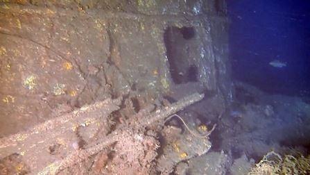 日本九州工業大學調查團隊近日在京都府近海發現3艘曾在二戰期間服役的日軍潛艦。(圖擷取自日媒時事通信)
