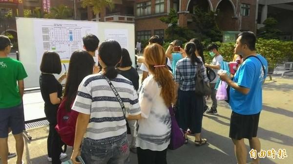 高中藝術才能班特色招生撕榜因颱風來襲將延至12日。(資料照,記者李容萍攝)
