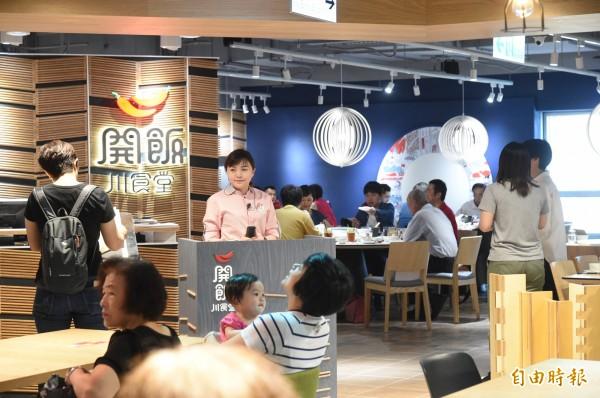 開飯川食堂插旗高雄新光左營店彩虹市集 ,將成為國內中餐連鎖餐廳第一品牌。(記者張忠義攝)