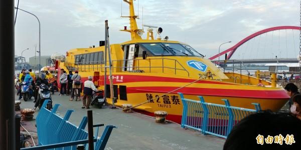 東琉航線今天下午將陸續停航。(記者陳彥廷攝)