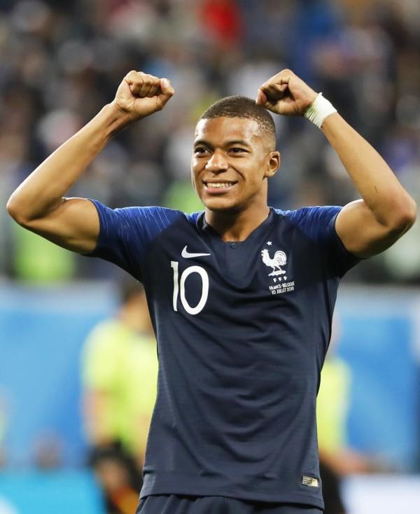 法國隊19歲小將姆巴佩。(歐新社)