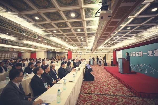 民進黨今天在圓山飯店舉行全代會,上午先召開「改革政績一定營」活動。(民進黨提供)