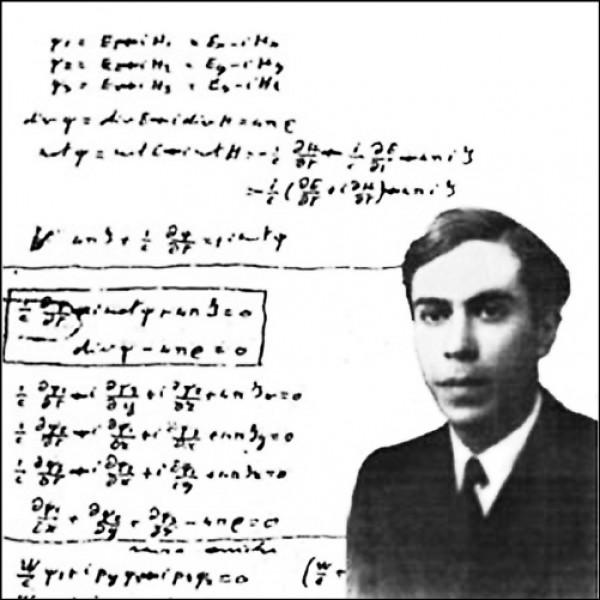 義大利物理學家馬約拉納及其改寫「狄拉克方程式」(Dirac equation)的「馬約拉納方程式」(Majorana equation)。(取自網路)