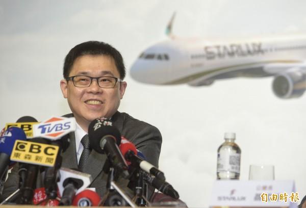 星宇航空證實,張國煒將豪擲1800億元購入17架飛機。(資料照)