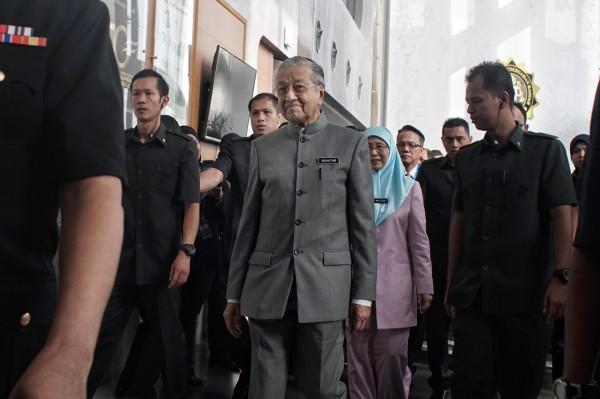 馬來西亞總理馬哈地。(彭博)