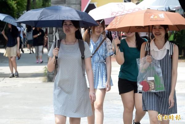 台灣明天的天氣不穩,各地皆有局部陣雨會雷雨的發生機率,但白天各地仍是達35度的高溫;另外全台紫外線也都處過量與高量級,空品則是普通至良好級。(資料照)