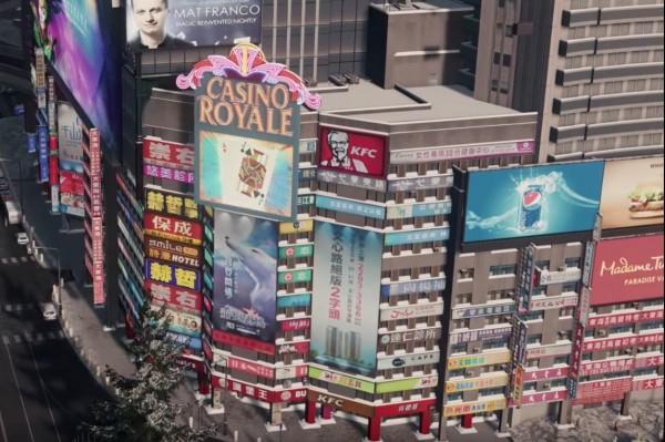 網友認為,這名外國玩家打造的虛擬商業區與台北車站商圈幾乎一模一樣。(擷取自PTT)