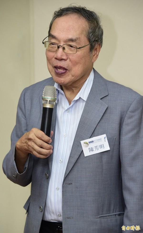 台灣文學家陳芳明。(資料照)