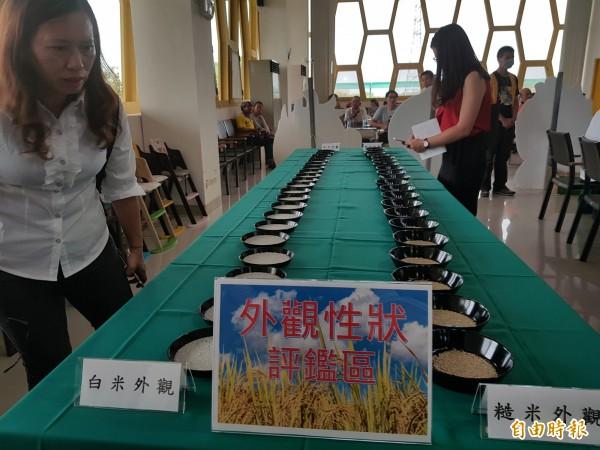 南市農業局表示,參賽好米農藥殘留檢驗、無機砷檢驗結果全數合格,台南好米無論在品質或食用安全上皆為首屈一指,消費者可安心選購。(記者王涵平攝)