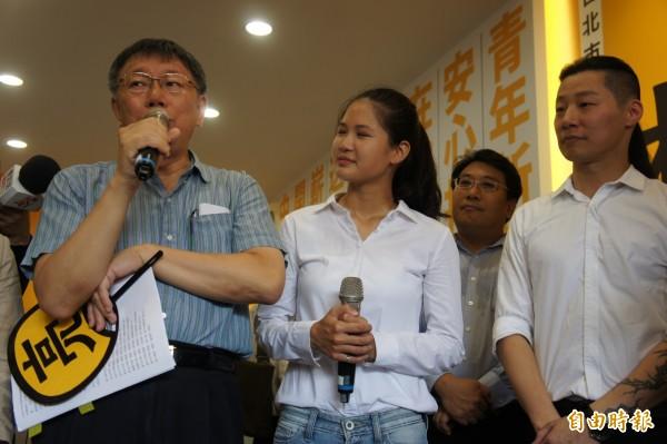時代力量台北市黨部主委林昶佐強調,目前並不會特定支持哪位市長候選人。(記者黃建豪攝)