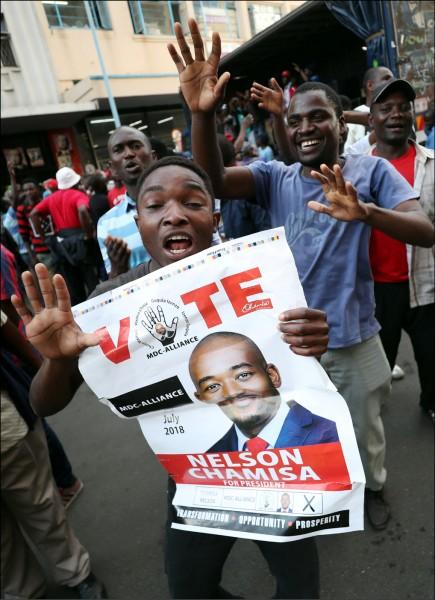 辛巴威總統選舉結果將出爐。(法新社)