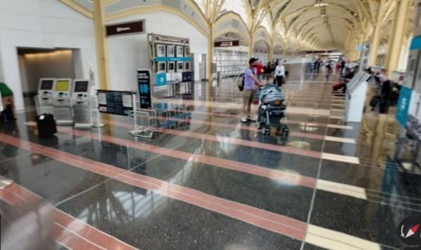 女童被綁架的地點華盛頓雷根機場(DCA)。(圖擷取自Google街景。)