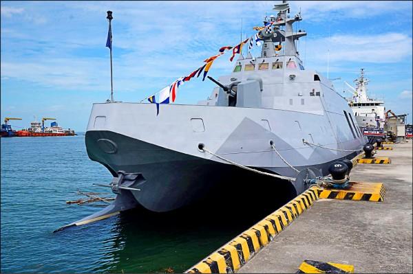 海軍三艘「防空型」沱江級軍艦的戰系及載台建造案,交由中科院統籌執行,雙方已完成委製協議。(資料照)