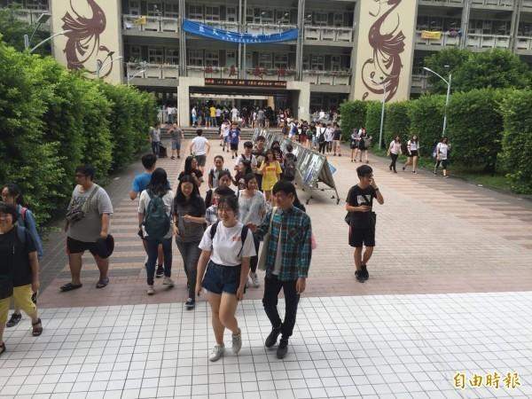 大學入學指定科目考試入學分發於今天上午8時放榜。(資料照)