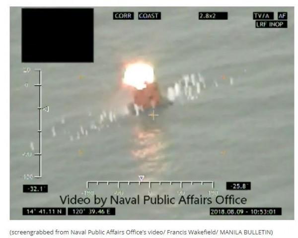 菲律賓海軍今(9)日試射來自以色列的「增程型長釘飛彈」(Spike-ER)系統,這也是該國建軍以來第一套飛彈系統。(圖擷取自馬尼拉公報)