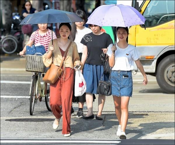 明天全台各地氣溫仍高,紫外線指數也偏高。(資料照)