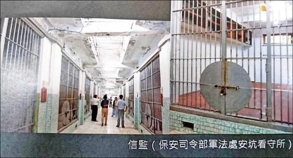 促轉會在8月7日二訪原國防部新店軍人監獄,參觀過去關押政治犯的保安司令部軍法處安坑看守所「信監」牢房。(促轉會提供)